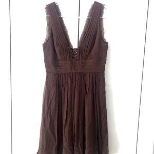 BCBG MaxAzria Chocolate Brown cocktail dress